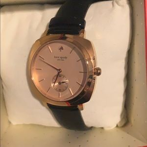 Kate Spade Rose gold and black watch